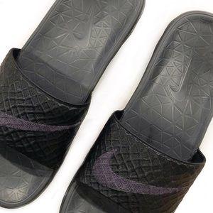 [Nike] Solarsoft Slides in Black Anthracite